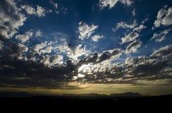 Crepuscolo sopra la montagna della Tabella Fotografie Stock