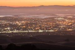Crepuscolo sopra Silicon Valley Immagine Stock Libera da Diritti