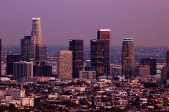 Crepuscolo su LA Immagine Stock
