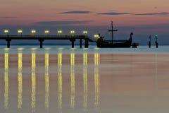 Crepuscolo sul mare. Fotografia Stock Libera da Diritti