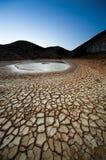 Crepuscolo in uno sbarco della siccità Fotografie Stock Libere da Diritti