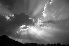 Crepuscular Rays Royalty Free Stock Photos
