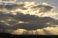 Crepuscular Rays Stock Image