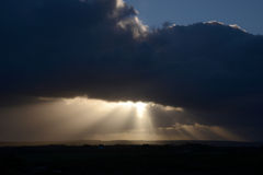 Crepuscular rays Royalty Free Stock Image