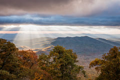 Crepuscular Rays on the Parkway Stock Image