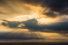 Crepuscular sun rays Royalty Free Stock Photography