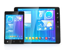 Cre?ër mobiele apps voor tabletten Stock Afbeeldingen