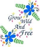 Cresça conceito selvagem e livre fotografia de stock royalty free