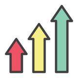 Cresça a estatística exponencial Fotos de Stock
