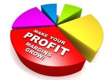 Cresça lucros Imagens de Stock Royalty Free