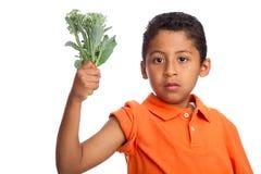 Cresça os músculos grandes que comem seus bróculos Fotografia de Stock Royalty Free