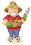 Cresça seu próprio jardineiro orgânico do Hippie Fotografia de Stock