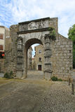 Cres gate. Medieval arch gate entrance to Cres town Royalty Free Stock Image