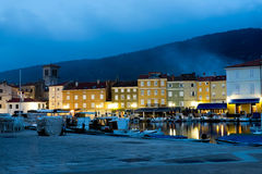Cres by night Stock Photo