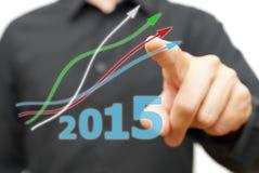 Crescendo e tendenza relativa positiva all'anno 2015 Immagini Stock Libere da Diritti