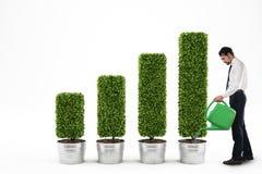Crescendo a economia rendição 3d Foto de Stock