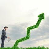 Crescendo a empresa da economia Imagens de Stock