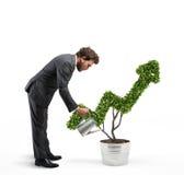 Crescendo a empresa da economia rendição 3d Fotos de Stock Royalty Free