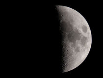 Crescent. The moon taken by telescope Royalty Free Stock Photos