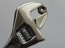 Crescent Adjustable Wrench Close-Up Stock Afbeelding