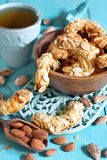 Crescent almond cookies Royalty Free Stock Photo
