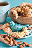 Crescent almond cookies Stock Photography