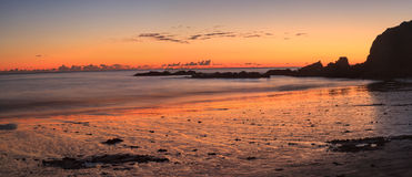 Crescent Bay beach at sunset Royalty Free Stock Photo