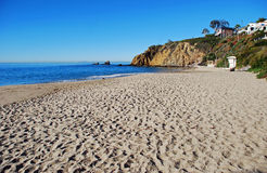 Crescent Bay, North Laguna Beach, California. Image shows the, north end of Crescent Bay Beach in North Laguna Beach, California. This January morning photo was Stock Photography