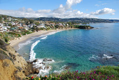 Crescent Bay, North Laguna Beach, California Stock Images