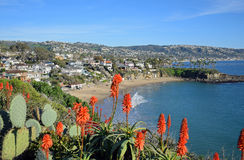 Crescent Bay, North Laguna Beach, California. Winter time view of spectacular Crescent Bay, North Laguna Beach, California. The beach is open to the public royalty free stock images