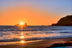 Crescent Bay-zonsondergang Stock Foto's