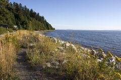 Crescent Beach. Looking southeast toward Washington State in South Surrey's Crescent Beach district Royalty Free Stock Photography