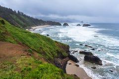Crescent Beach at Ecola State Park near Cannon Beach Oregon USA Stock Photography