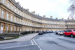 Crescent building in Bath, England Royalty Free Stock Photo