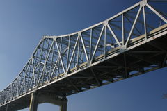 Crescent City Connection. One span of the Crescent City Connection bridge across the Mississippi River in New Orleans Stock Photos