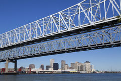 Crescent City Connection - New Orleans, Louisiana Royalty Free Stock Photo