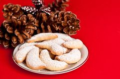 Crescent cookies Stock Image