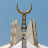 Crescent at Faisal Mosque, Islamabad, Pakistan Stock Photo