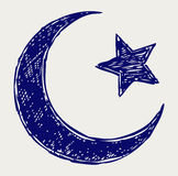 Crescent Islamic symbol Royalty Free Stock Photos