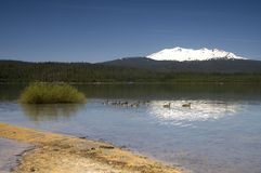 Crescent Lake Diamond Peak Oregon Outback Royalty Free Stock Photography