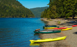 Crescent Lake beach Royalty Free Stock Images