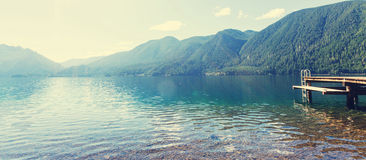 Crescent lake. Lake Crescent at Olympic National Park, Washington, USA Stock Photography