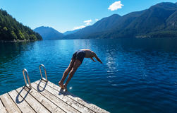 Crescent lake Royalty Free Stock Photography