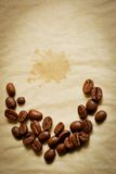 Crescent made of coffee beans royalty free stock images