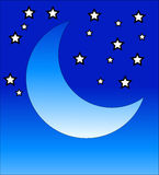 Crescent Moon 2. This is a crescent moon symbol Royalty Free Stock Photo