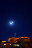 Crescent moon Royalty Free Stock Photo