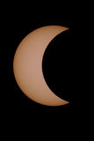 Crescent moon. A crescent moon during the solar eclipse Royalty Free Stock Photo