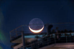 Crescent moon at Acapulco Mexico Stock Images