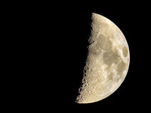 Crescent moon on black background Stock Images