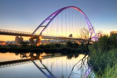 Crescent Moon Bridge royalty free stock photography